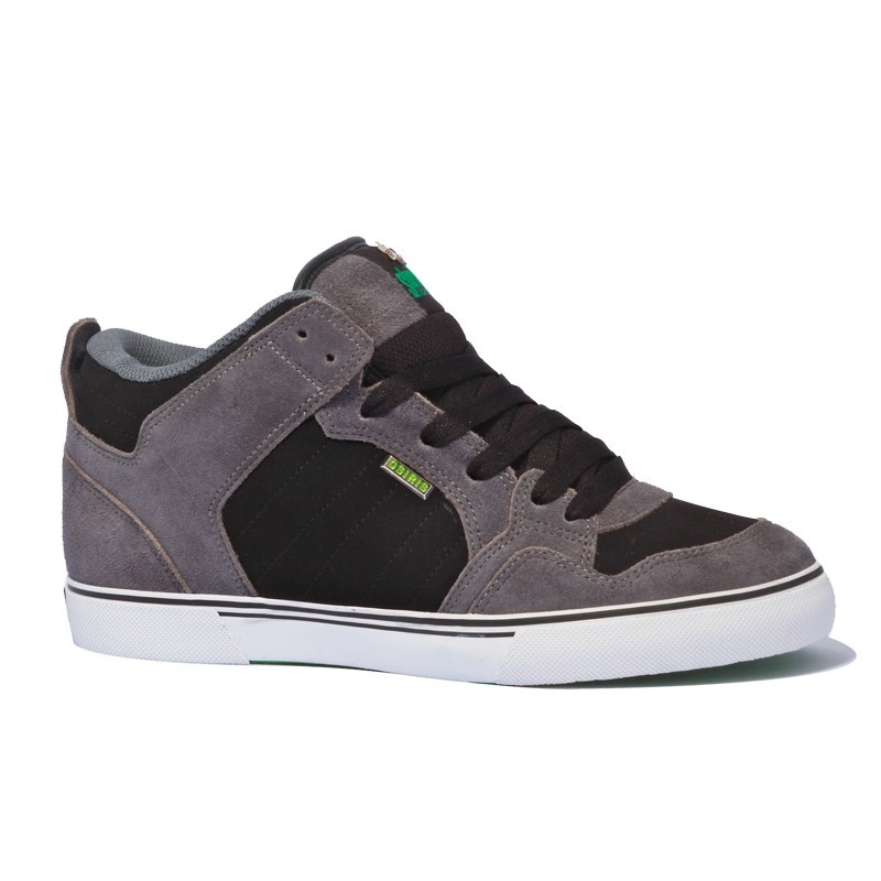 Osiris Shuriken mid charcoal black green sneakers