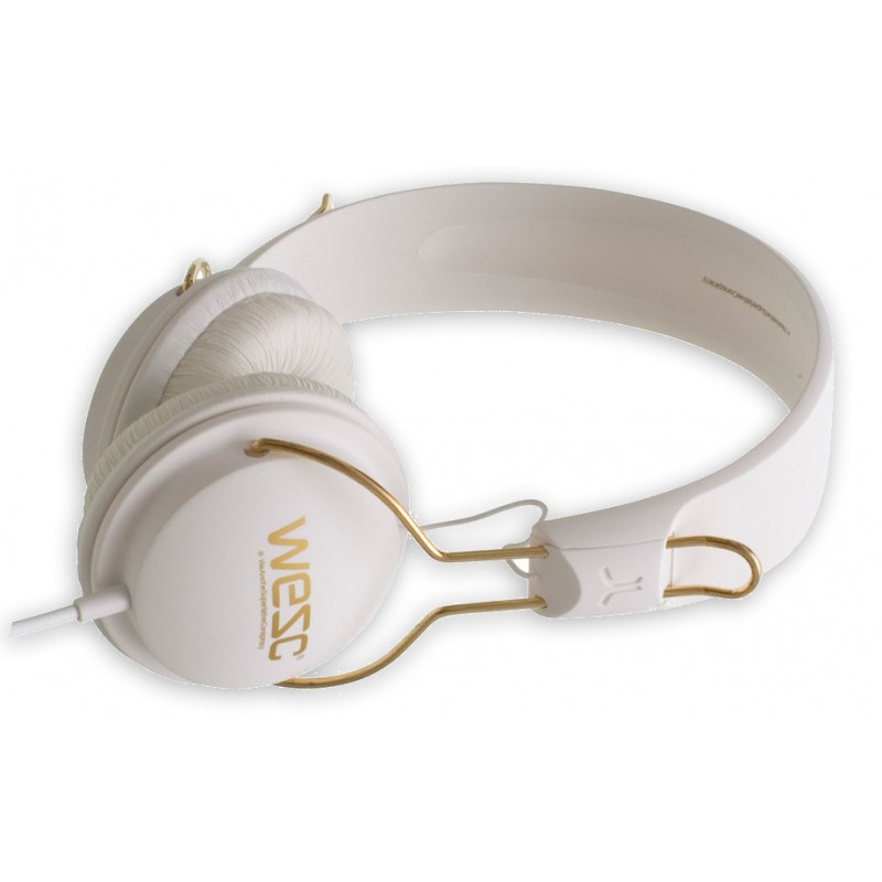 WESC TAMBOURINE golden white headphones
