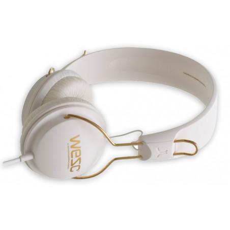 casque audio WESC TAMBOURINE golden white