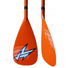 Pagaie stand up paddle Korvenn carbone réglable orange grise