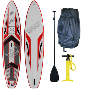 "Stand Up Paddle SUP gonflable WSK 12'6"" super thick aileron amovible"