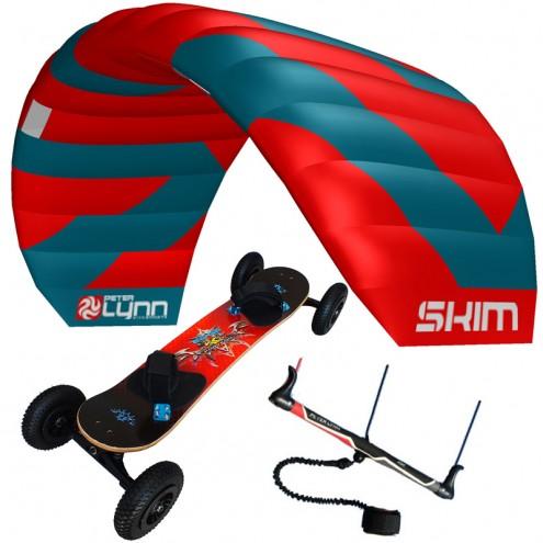 pack mountainboard edge + aile de traction skim sur barre