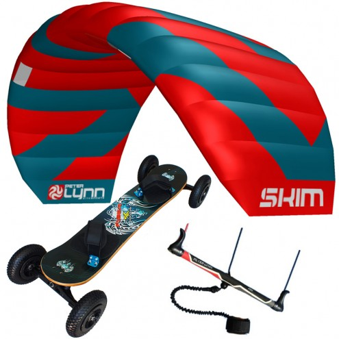 pack mountainboard fiber + aile Peter Lynn Skim