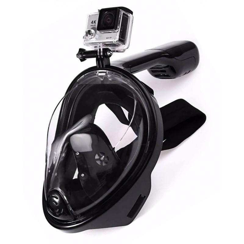 masque de plong e en surface freebreath avec support de cam ra de sport. Black Bedroom Furniture Sets. Home Design Ideas