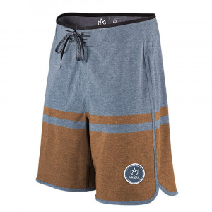 Boardshort Manera Haapiti Alloy Blue - Flame Orange