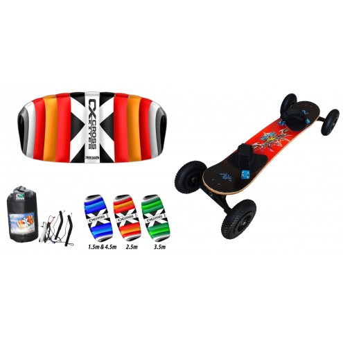 Pack mountainboard edge + Aile Crosskites quattro