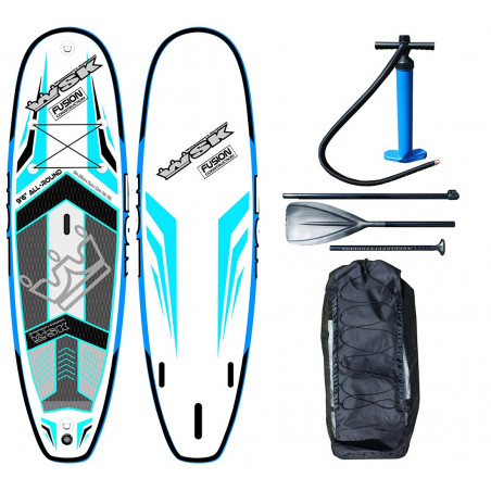"Stand Up Paddle SUP gonflable WSK 9'6"" All Round Fusion double peau"
