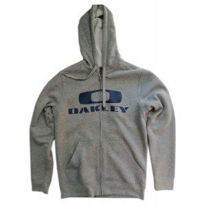 sweat à capuche zippé oakley grant fleece heather grey