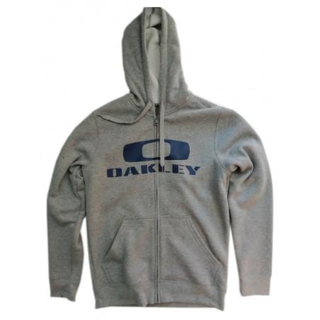 sweat à capuche zippé oakley grant fleece heather grey