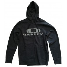 sweat à capuche zippé oakley grant fleece heather dark grey
