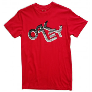 tee-shirt oakley retro fade 2.0 tee red line