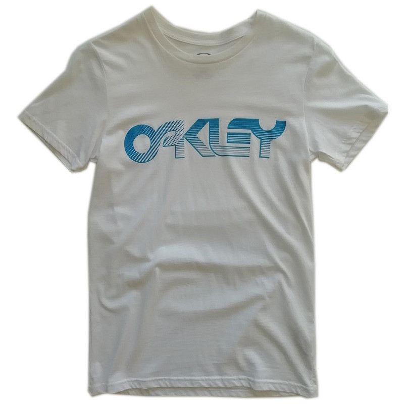 tee-shirt oakley retro fade 2.0 tee white