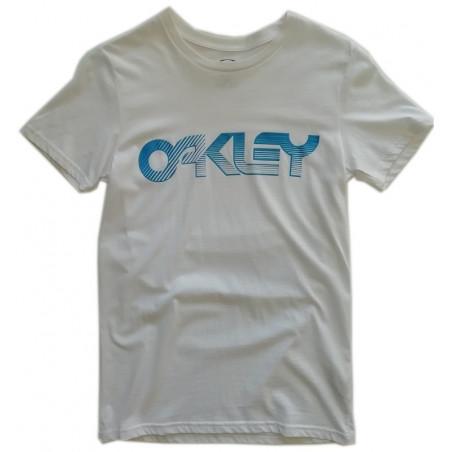 tee-shirt oakley Current tee white