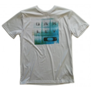 tee-shirt oakley circle tee orion blue
