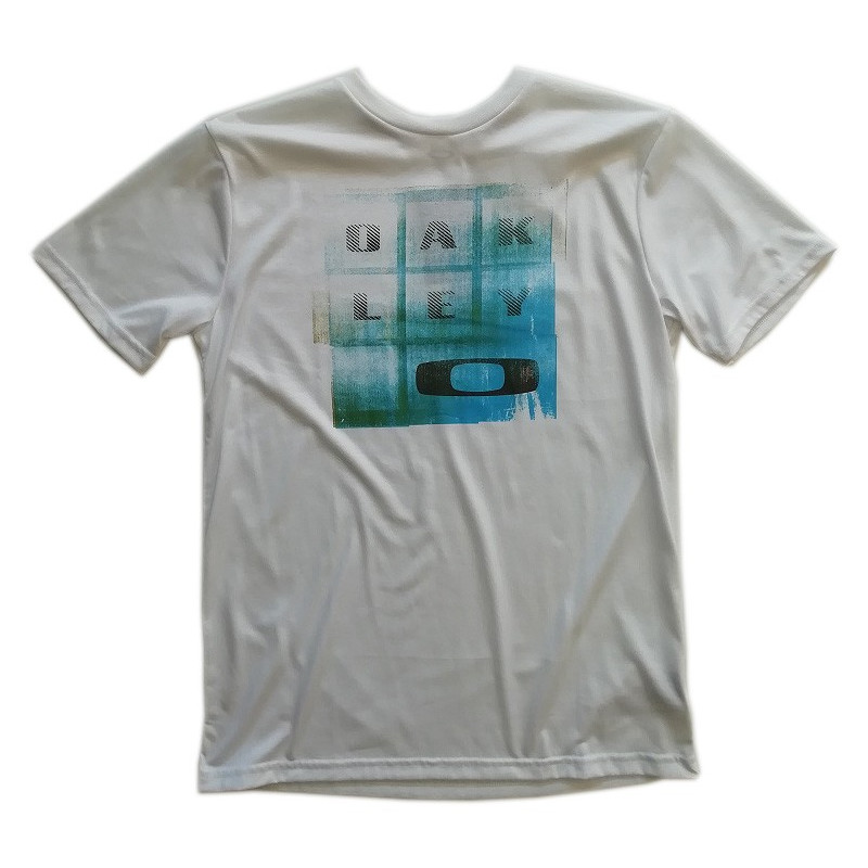 tee-shirt oakley circle tee orion blue