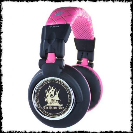 Casque audio DJ Dead parrot don´t talk pink