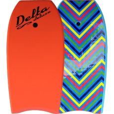 Bodyboard Alder Delta Deluxe Zigzag Orange