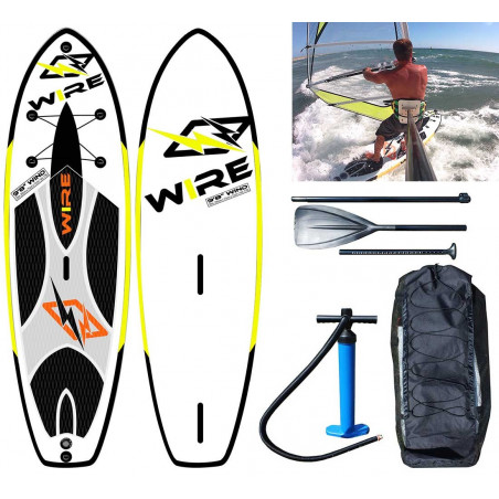 "SUP gonflable hybride Windsup Wire 9'8"" Wind"