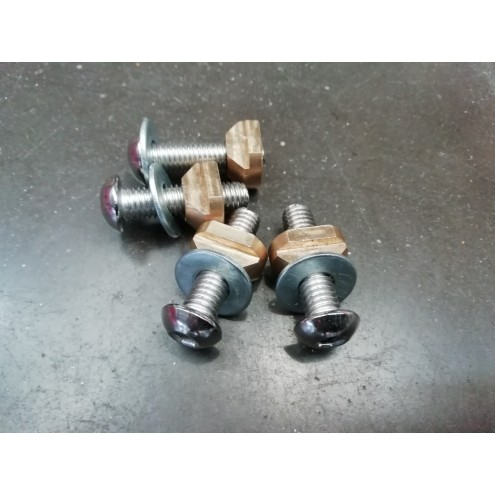 track nut + vis 6mm pour foil
