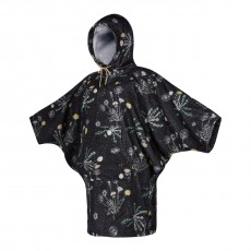 Poncho Mystic Women Black White 2021