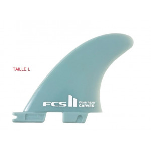 Ailerons FCS II Carver GF Tri Set pour Surfkite Core