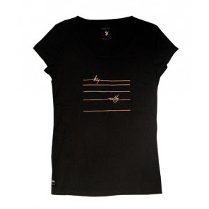 T-Shirt Femme Manera Lines Black 2021