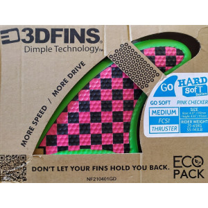 Ailerons Thruster 3DFINS FCS1 Pink Checker