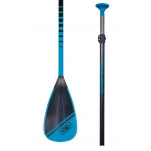 Pagaie SUP Vario manche fibre de verre pale plastique ABS bleu