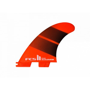 Ailerons FCS II Accelerator L Neo Glass Wave surfboard fin set