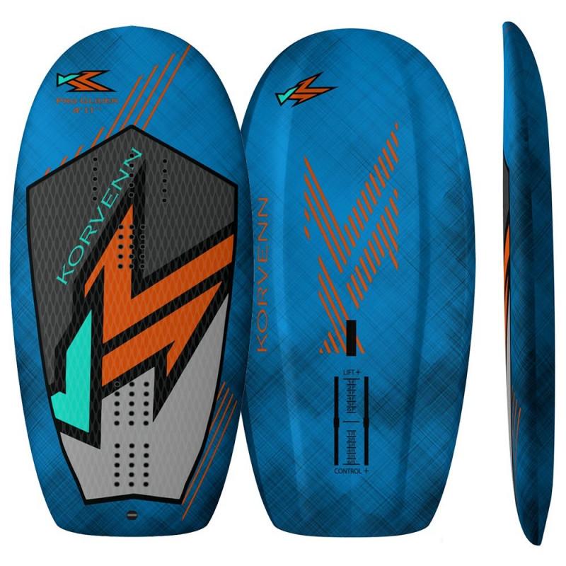 Planche de wing foil et de sup foil Korvenn Pro Glider carbon bleue