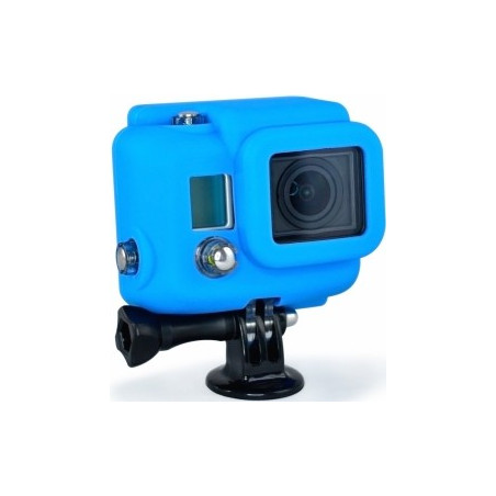 Housse Silicone Cover GoPro HD 3 Bleue