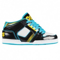 chaussure osiris nyc 83 mid ult black, white, blue