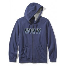 sweat à capuche zippé oakley factory pilot fleece blue indigo