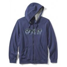 sweat à capuche zippé oakley factory pilot fleece blue indigo