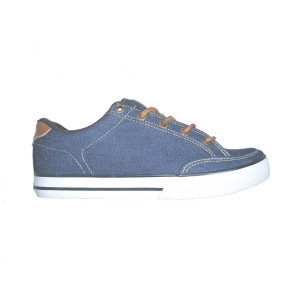 chaussure circa lopez 50 slim indigo denim white