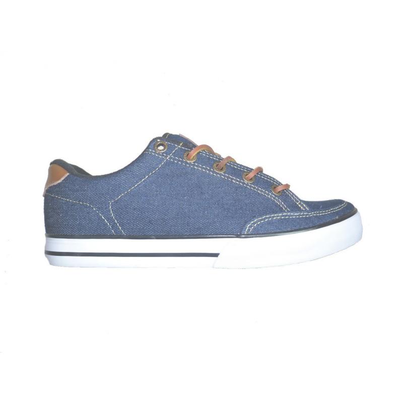 chaussures circa lopez 50 slim indigo denim white