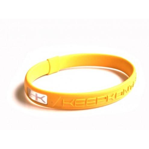 Bracelet silicone KEEP KONTROL jaune