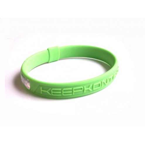 Bracelet silicone KEEP KONTROL vert