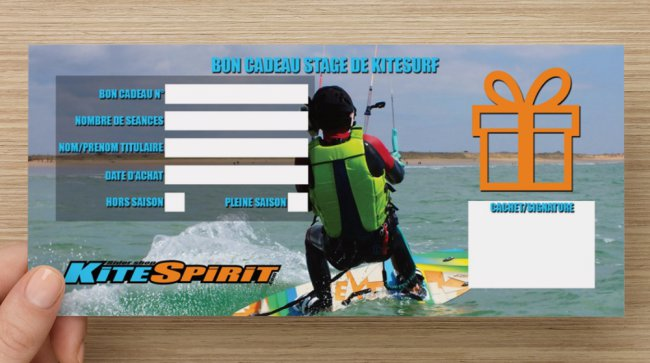 Bon cadeau stage de kite surf