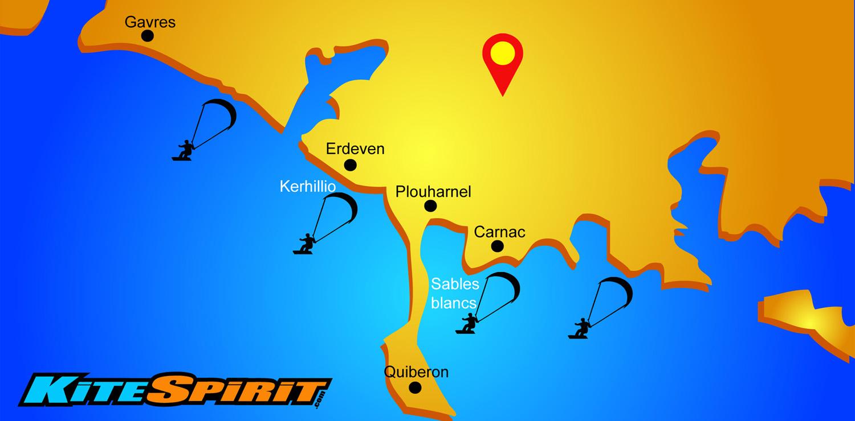 Carte Bretagne Erdeven.Ecole De Kitesurf A Erdeven Stages De Kite Tous Niveaux